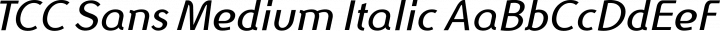 TCC Sans Medium Italic free font