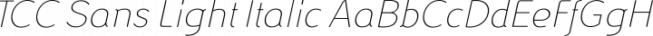 TCC Sans Light Italic free font