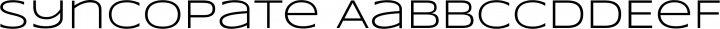 Syncopate Regular free font