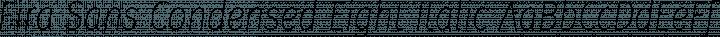Fira Sans Condensed Eight Italic free font
