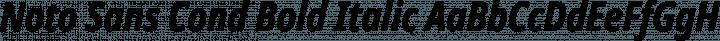 Noto Sans Cond Bold Italic free font
