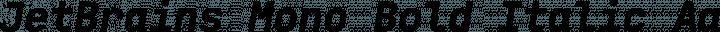 JetBrains Mono Bold Italic free font