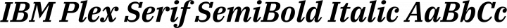 IBM Plex Serif SemiBold Italic free font