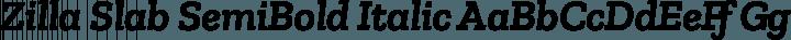 Zilla Slab SemiBold Italic free font