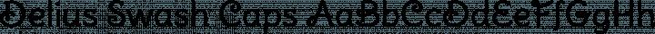Delius Swash Caps Regular free font