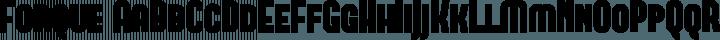 Forque Regular free font