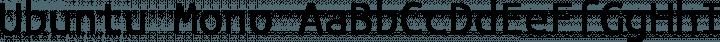 Ubuntu Mono font family by Dalton Maag Ltd