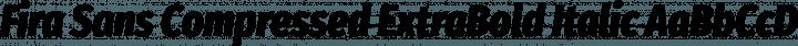 Fira Sans Compressed ExtraBold Italic free font