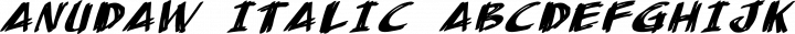 AnuDaw Italic free font