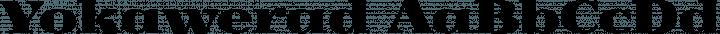Yokawerad font family by GLUK fonts