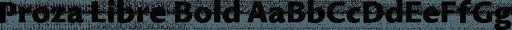 Proza Libre Bold free font