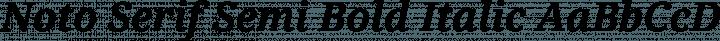 Noto Serif Semi Bold Italic free font