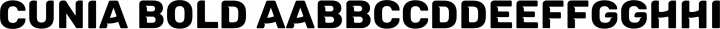 Cunia Bold free font
