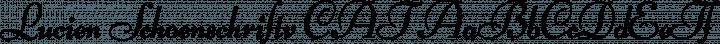 Lucien Schoenschriftv CAT font family by Peter Wiegel