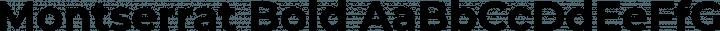 Montserrat Bold free font