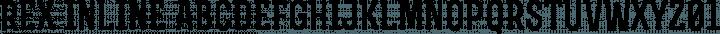 Rex Inline free font