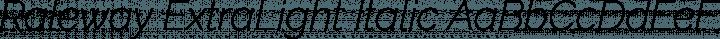 Raleway ExtraLight Italic free font