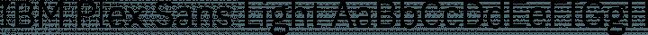 IBM Plex Sans Light free font