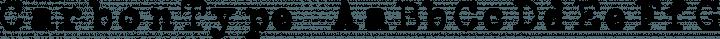 CarbonType Regular free font