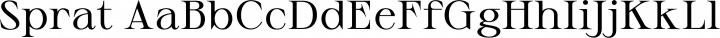 Sprat Regular free font
