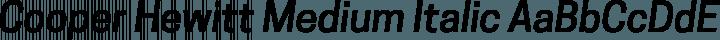 Cooper Hewitt Medium Italic free font