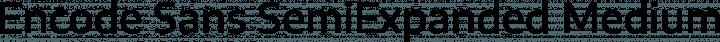 Encode Sans SemiExpanded Medium free font
