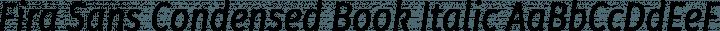 Fira Sans Condensed Book Italic free font