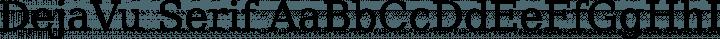 DejaVu Serif font family by DejaVu Fonts