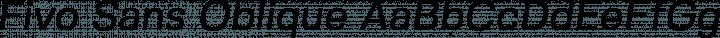 Fivo Sans Oblique free font