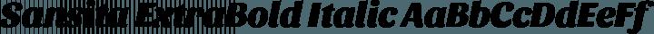 Sansita ExtraBold Italic free font