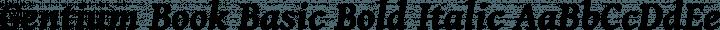 Gentium Book Basic Bold Italic free font