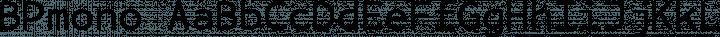 BPmono Regular free font