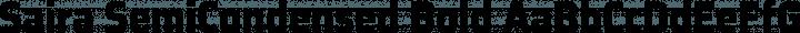 Saira SemiCondensed Bold free font