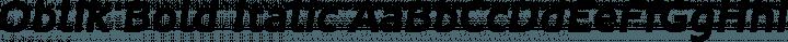 Oblik Bold Italic free font