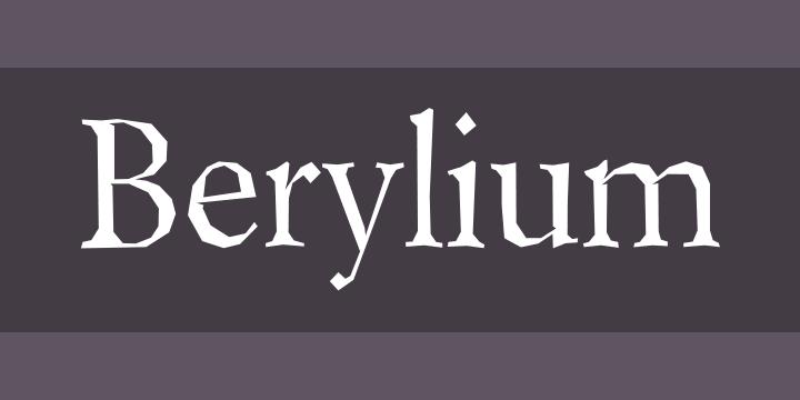 Berylium Font Free by Larabie Fonts » Font Squirrel