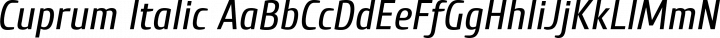 Cuprum Italic free font