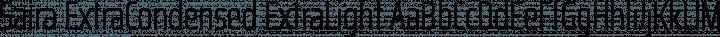 Saira ExtraCondensed ExtraLight free font