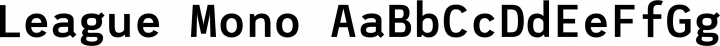 League Mono font family by Tyler Finck