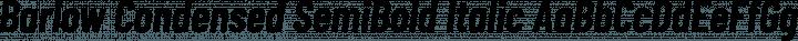 Barlow Condensed SemiBold Italic free font