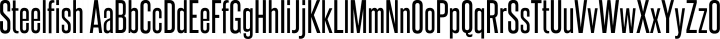 Steelfish Regular free font