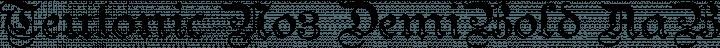 Teutonic No3 DemiBold free font