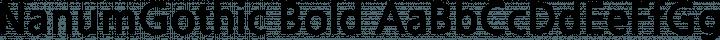 NanumGothic Bold free font