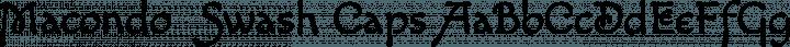 Macondo  Swash Caps free font