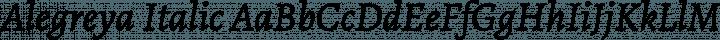 Alegreya Italic free font