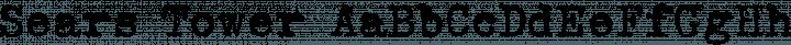 Sears Tower Regular free font