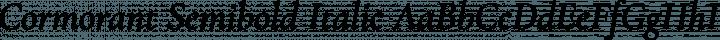 Cormorant Semibold Italic free font