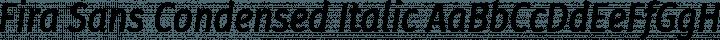 Fira Sans Condensed Italic free font