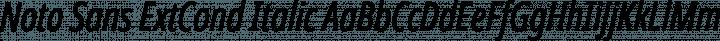 Noto Sans ExtCond Italic free font
