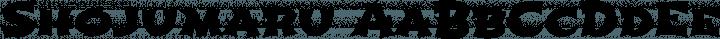 Shojumaru font family by Astigmatic
