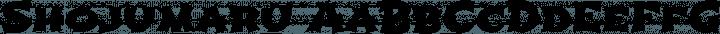 Shojumaru Regular free font